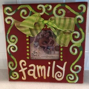 Other - Wooden Family Holiday Frame